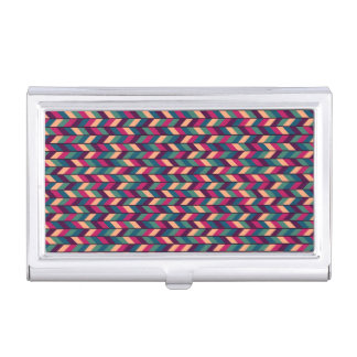 Abstract Colorful Industrial Business Card Holder