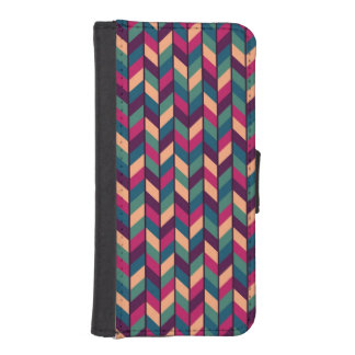 Abstract Colorful Industrial iPhone SE/5/5s Wallet Case