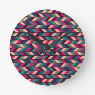 Abstract Colorful Industrial Round Clock