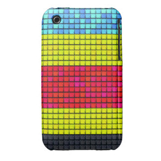 Abstract colorful line fabric pattern iPhone 3 Case-Mate case