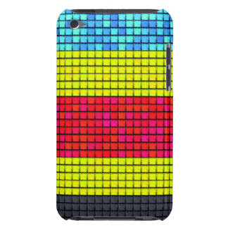 Abstract colorful line fabric pattern iPod touch cases