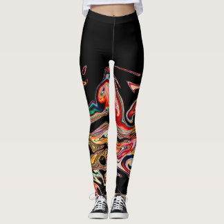 Abstract Colorful line Leggings