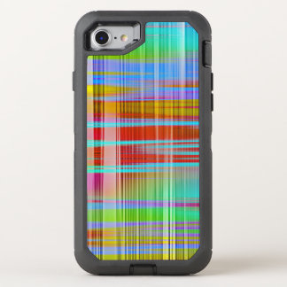 Abstract Colorful Line Pattern OtterBox Defender iPhone 8/7 Case