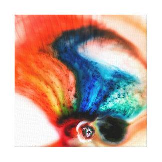 Abstract Colorful Liquid Macro Canvas Canvas Print