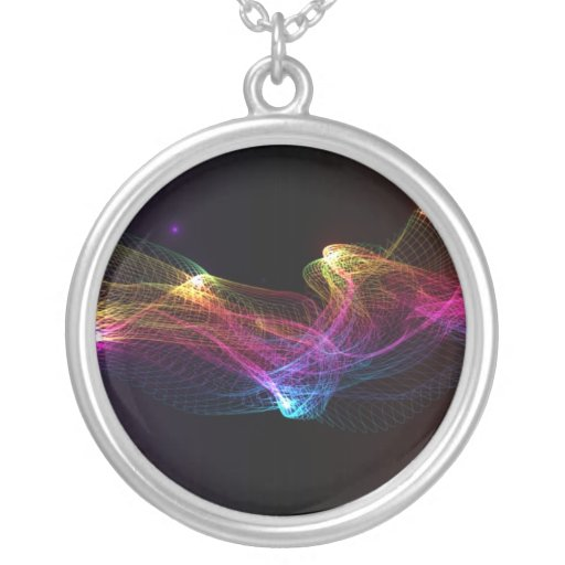 Abstract colorful mesh jewelry