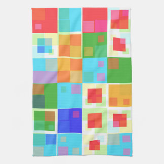 Abstract Colorful Modern Design Tea Towel