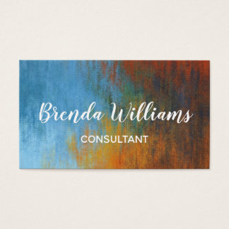 Abstract Colorful Modern & Trendy Business Card
