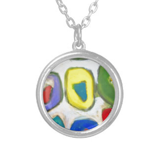 Abstract Colorful Nine Muses Personalized Necklace