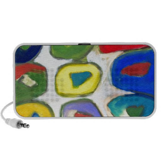 Abstract Colorful Nine Muses Travel Speakers