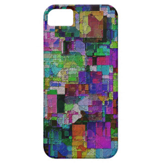 Abstract colorful paint blocks. iPhone 5 cases