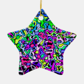 Abstract colorful pattern christmas ornament