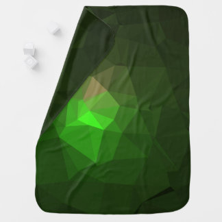Abstract & Colorful Pattern Design - Green Lantern Baby Blanket