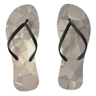 Abstract & Colorful Pattern Design - Hazy Fox Flip Flops