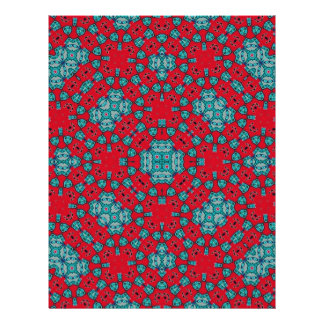 Abstract colorful pattern full color flyer