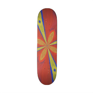 Abstract colorful pattern skate board deck