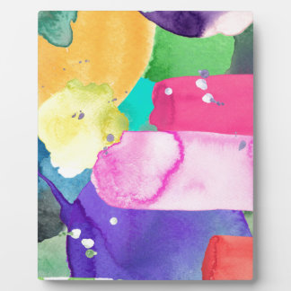 ABSTRACT COLORFUL PLAQUE