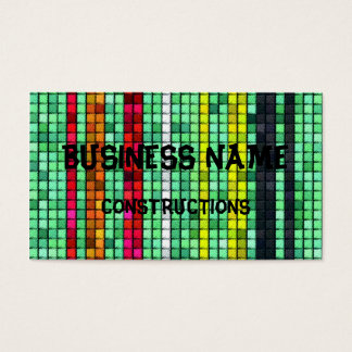Abstract  Colorful quilt fabric Business Card