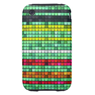 Abstract  Colorful quilt fabric Tough iPhone 3 Case