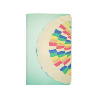 Abstract Colorful Rainbow Hot Air Balloon Journal