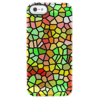 Abstract colorful stained glass clear iPhone SE/5/5s case