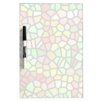 Abstract colorful stained glass dry erase board