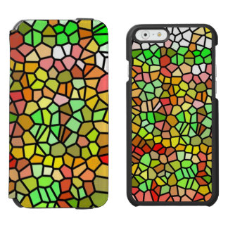 Abstract colorful stained glass incipio watson™ iPhone 6 wallet case