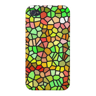 Abstract colorful stained glass iPhone 4 case