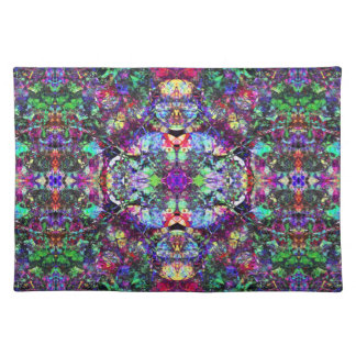 Abstract Colorful Stained Glass Placemat