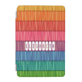 Abstract colorful stripes pattern name iPad mini cover
