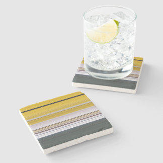 Abstract Colorful Stripes Stone Coaster