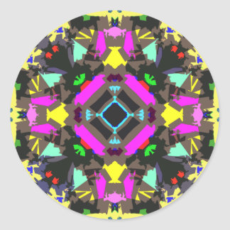 Abstract Colorful Symmetry Round Sticker