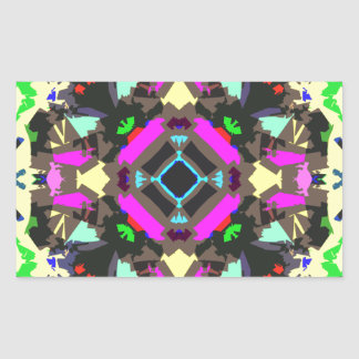 Abstract Colorful Symmetry Sticker