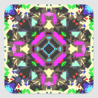 Abstract Colorful Symmetry Stickers