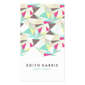 Abstract colorful teal pattern illustration modern pack of standard business cards
