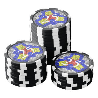 Abstract colorful texture pattern poker chips