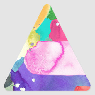 ABSTRACT COLORFUL TRIANGLE STICKER