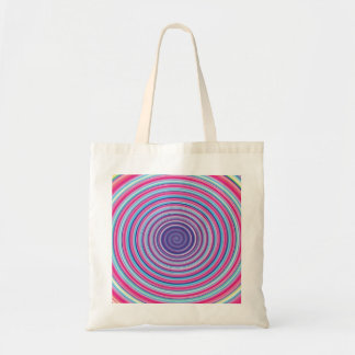 Abstract Colorful TWIRLING SPIRAL OPTICAL ILLUSION Bag