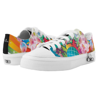 Abstract Colorful Unique 101 Printed Shoes