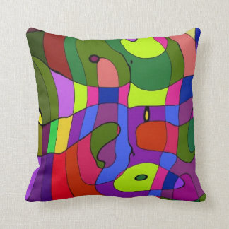Abstract Colors 1 Throw Pillows