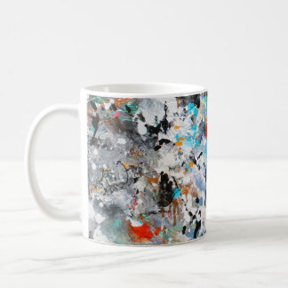 Abstract Colors Basic White Mug