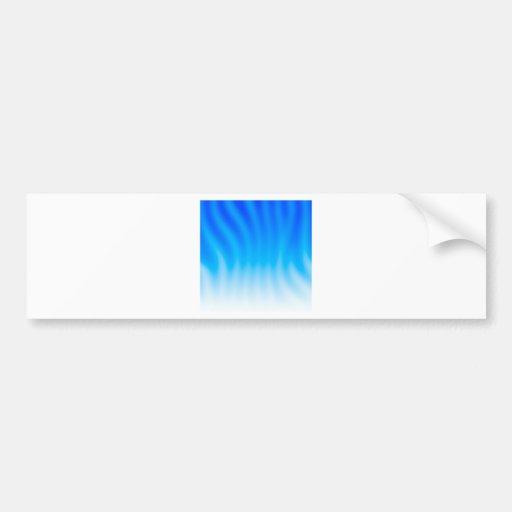Abstract Colors Blue Heat Bumper Sticker