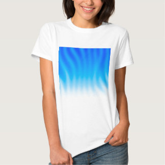 Abstract Colors Blue Heat Tee Shirt