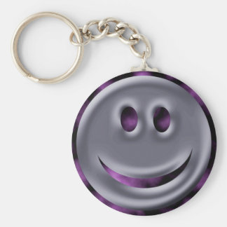 Abstract Colors Chrome Smile Key Chain