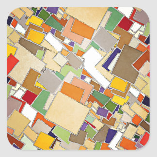 Abstract Colors Composition Square Sticker