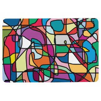 Abstract colors Doodle Floor Mat