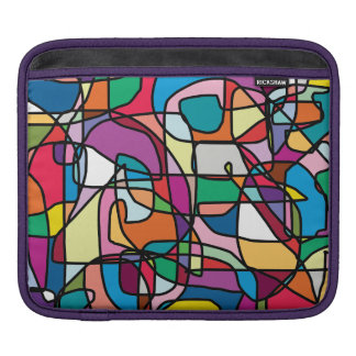 Abstract Colors Doodle iPad Case Sleeves For iPads
