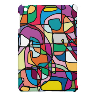 Abstract Colors Doodle iPad Mini Case