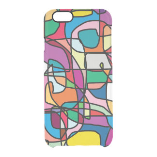 Abstract Colors Doodle iPhone Case