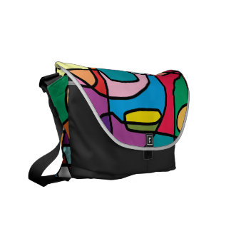 Abstract Colors Doodle Medium Messenger Bag
