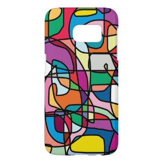 Abstract Colors Doodle Samsung Case